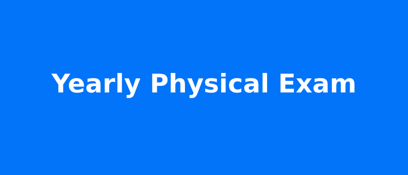 Yearly Physical Exam Services